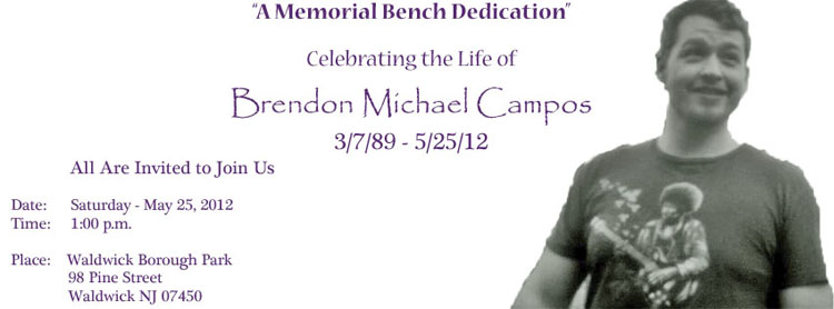 Bench Dedication Invite